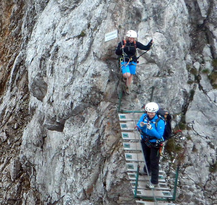 Unterwegs auf dem Innsbrucker Klettersteig (Juli 2016)