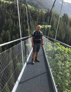 Höhenangst überwinden Hängebrücke